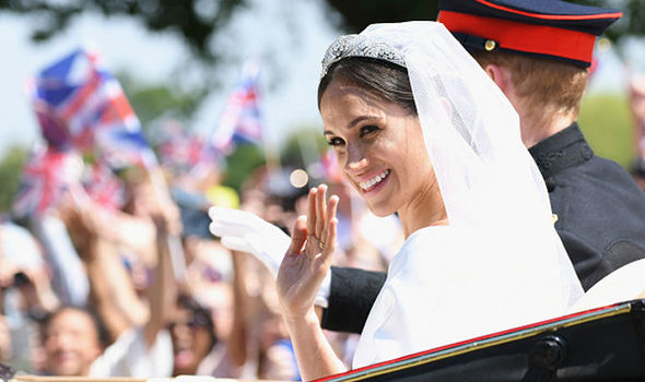 It would be the first time Meghan Markle has worn a tiara since the Royal Wedding Image GETTY