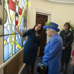 Jo Salter discussed the impressive window with Her Majesty Image GETTY