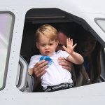 Kate Middleton Prince George has been revealed to be left-handed, while he waves (Image Getty)