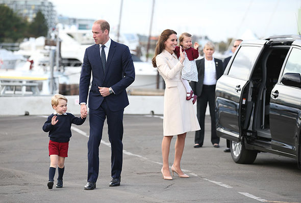 Kate Middleton Princess Charlotte has charmed many by her regal wave (Image Getty)