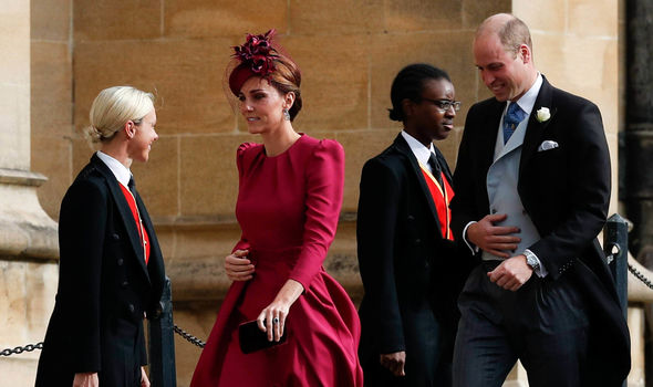 Kate Middleton The Duchess of Cambridge arrives at the church with Prince William Image AFP Getty