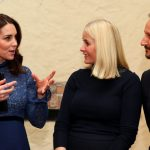 Kate Middleton and Crown Prince Haakon Photos Photos Catherine Duchess of Cambridge speaks to Crown Princess Mette Marit and Crown Prince Haakon of Norway during a visit to MESH a work space
