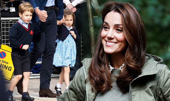 Kate Middleton latest news Prince George and Princess Charlotte etiquette lessons Image GETTY
