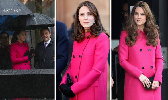 Kate Middleton news Kate re-wearing this Mulberry coat, a favourite of hers (Image Getty)