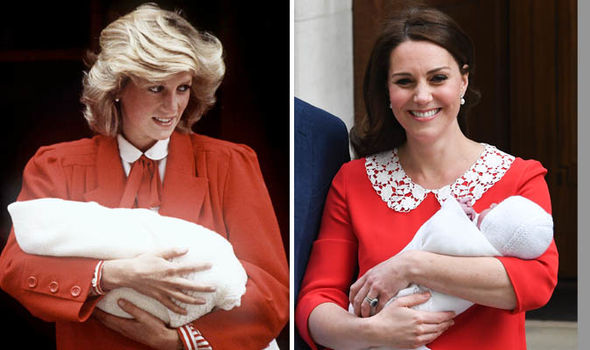 Kate also mirrored Diana when she left the hospital following the birth of Prince Louis Image GETTY