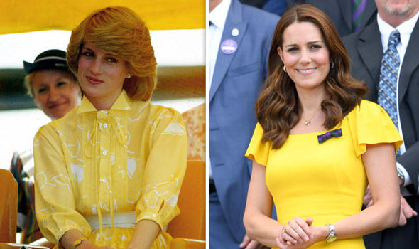Kate and Diana dazzle in yellow Image GETTY