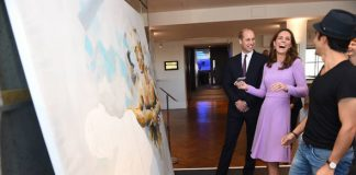 Kate and William brushed up on their artistic skills Image PA