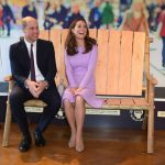 Kate and William sit on the Friendship Bench Image PA