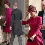 Kate arrived at St Georges Chapel with Prince William Image GETTY PA
