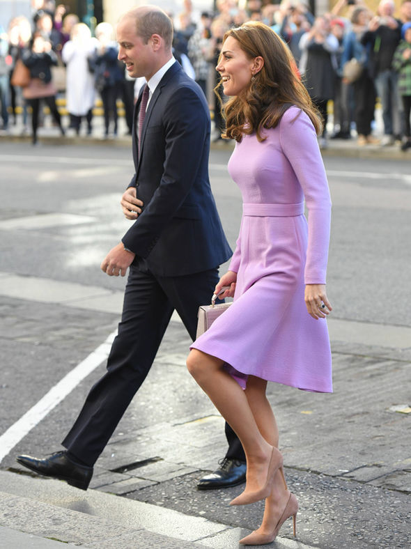Kate beamed as she arrived with Prince William Image WIREIMAGE