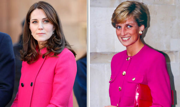 Kate channelled Diana when the Princess wore a similar shade Image GETTY
