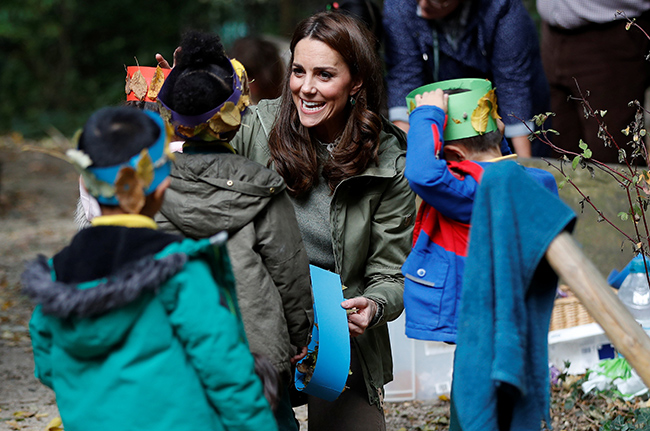 Kate Middleton reveals what she loves doing with Prince George and Princess Charlotte 'for hours'' Photo (C) GETTY IMAGES