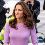 Kate looked lovely in lilac Image GETTY