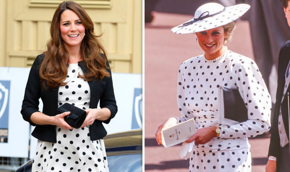 Kate was inspired by Diana in 2013 when she chose a polka dot dress Image GETTY