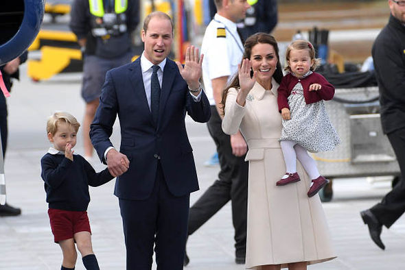 Kate and William have taught Charlotte royal etiquette, which they execute flawlessly (Image GETTY)