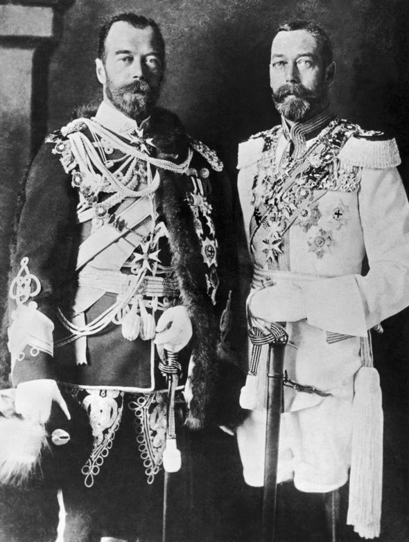 King George V and Tsar Nicholas II were close friends and spent many holidays together Image GETTY