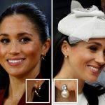 MODERN British designer Shaun Leane's Talon earrings £225 left ROYAL GIFTS Diamond bracelet from Charles worth £150 000 and diamond and pearl earrings from the Queen worth £4 275 right