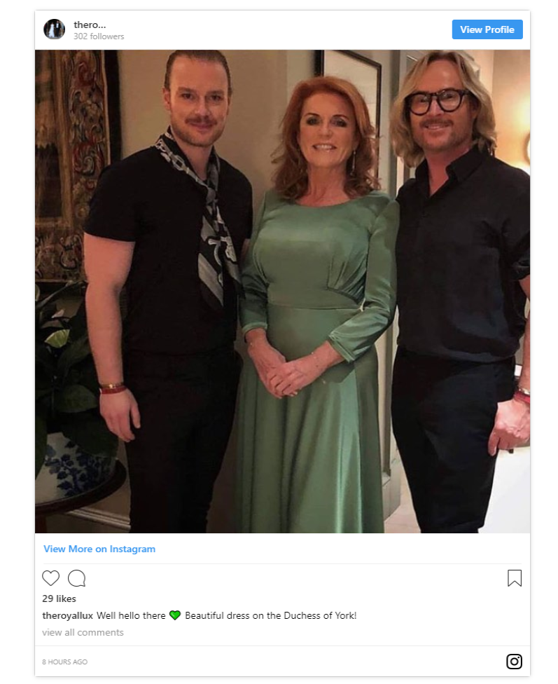 Mattias Stafsing Fergies makeup and hair artist posted this shot of the Mother of the Brides evening look Photo C INSTAGRAM