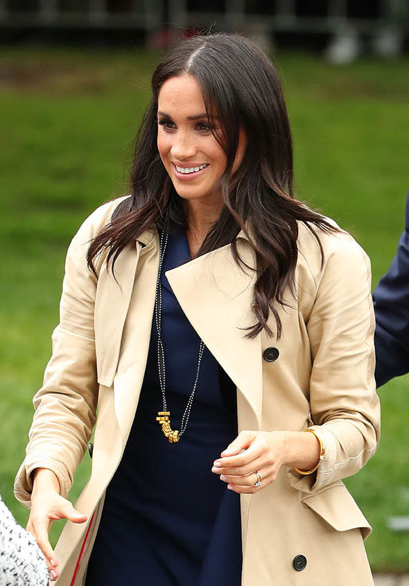 Meghan Markle Australia tour Meghan was handed the pasta necklace by a young royal fan Image Getty
