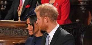 Meghan Markle The Duchess and Prince Harry returned to the chapel they married in five months ago Image GETTY