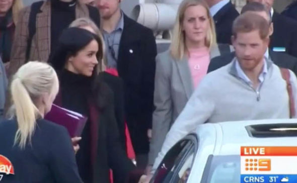 Meghan Markle and Harry arrived hand in hand Image TODAY SHOW