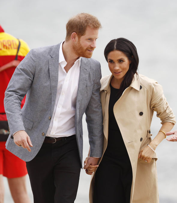 Meghan Markle and Prince Harry The pair are known for being tactile Image EPA