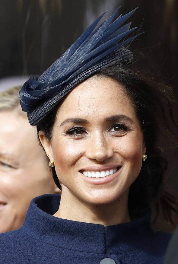 Meghan Markle at Princess Eugenies Royal Wedding Image GETTY