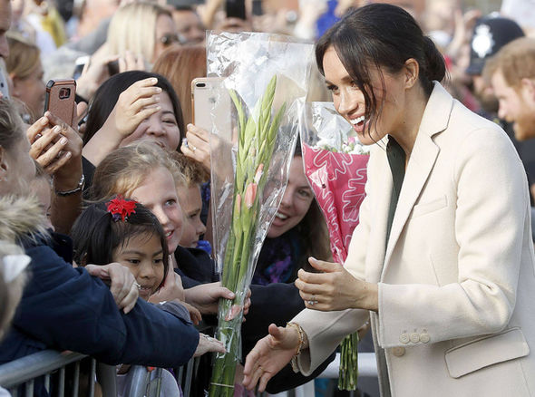 Meghan Markle drew a huge crowd as she and Prince Harry visited Sussex today (Image GETTY)