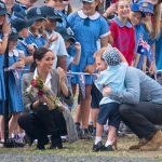 Meghan Markle due date Meghan laughs in delight as Luke Vincent five hugs Harry Image PA