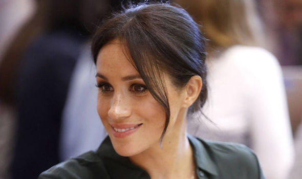 Meghan Markle saved the day when a girl fell over during a royal visit today (Image GETTY)