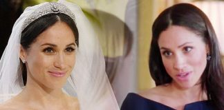 Meghan Markle spoke passionately about her wedding veil Image ITV GETTY