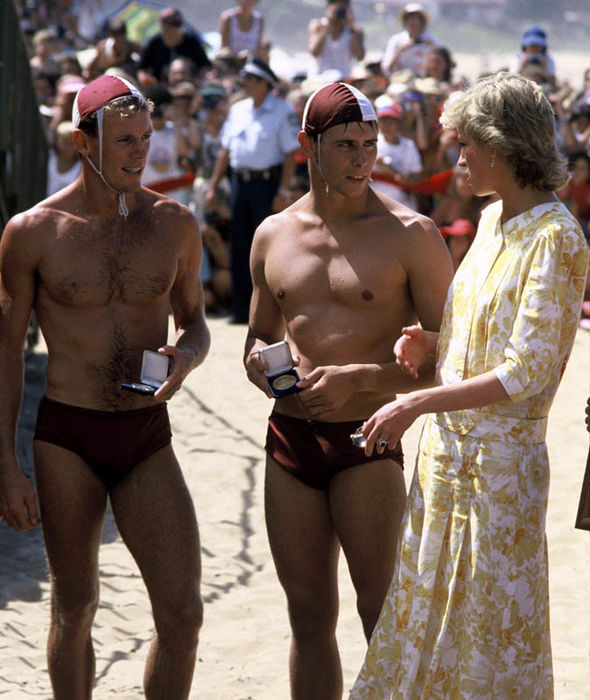 Meghan Markles late mother in law Diana on Bondi Beach Image GETTY