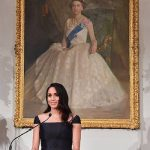 Meghan a confident public speaker praised New Zealand for being the first country in the world to give women the right to vote Photo C GETTY
