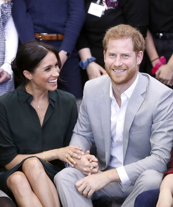 Meghan and Harry are expecting their first child in the spring of 2019 Image PA