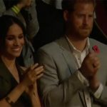 Meghan and Harry at the Invictus Game closing ceremony Image YOUTUBE ABC