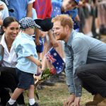 Meghan and Harry greeted excited school children in Dubbo Image GETTY