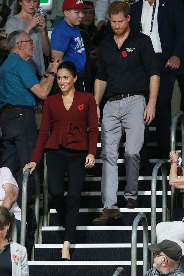 Meghan and Harry have arrived at the wheelchair basketball final of the Invictus Games Image Getty