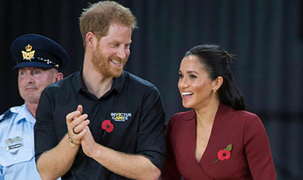 Meghan Markle is wearing a poppy for the first time Image PA