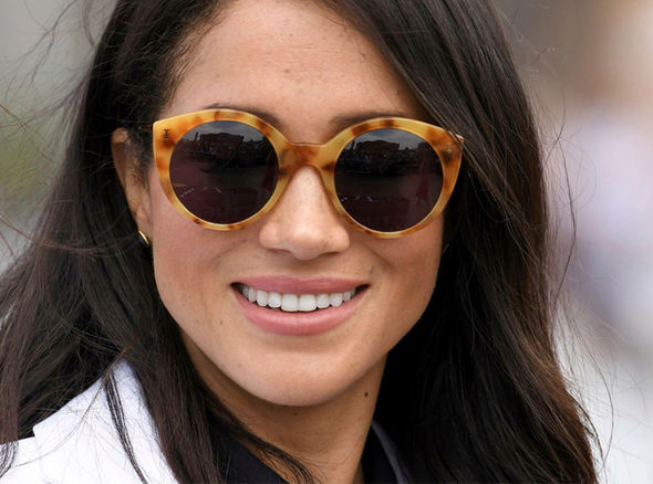 Meghan dazzled at Jaguar Land Rover Driving Challenge on Cockatoo Island yesterday Image WireImage