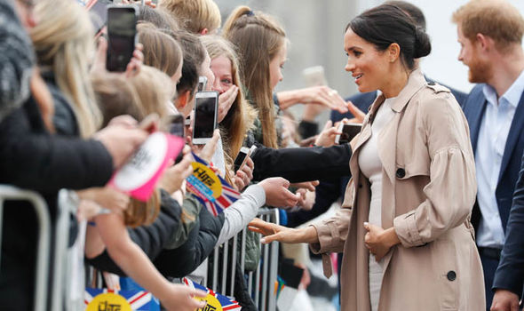 Meghan greets fans in New Zealand Image GETTY