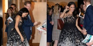 Meghan had the ultimate princess moment when she attended the Australian Geographic Society Awards with husband Harry Photo C GETTY