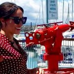 Meghan has stepped out on Fraser Island wearing a stunning polka dot dress Image herveybayecomarinetours