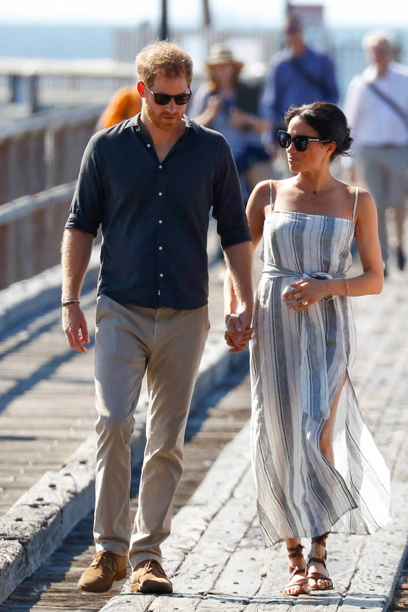 1 Meghan joined Harry for a walkabout on Fraser Island Image PA