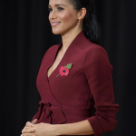Meghan is wearing a 550 jacket by popular luxury Aussie label Scanlan Theodore Image PA