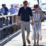 Meghan later joined her husband for a walk around Fraser Island Image EPA