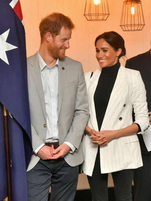 Meghan looked well rested at lunch time Photo C GETTY