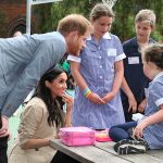 Meghan was gifted a toy tiara from one of the pupils Photo C GETTY