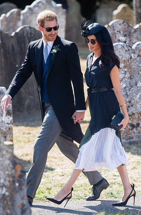 Meghan will have just fallen pregnant when she visited Ireland in July Photo C GETTY