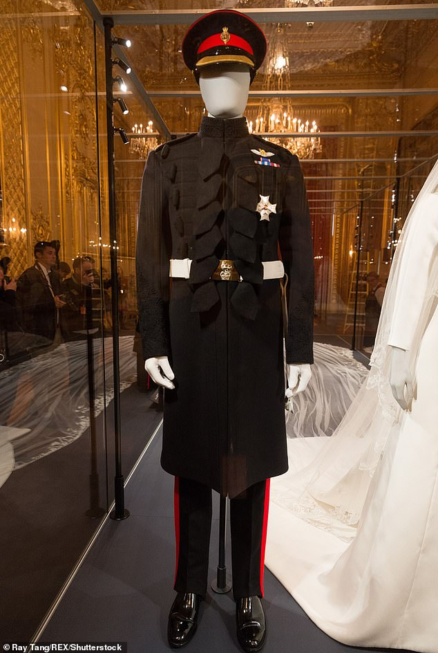 Members of the public will be given a closer view of the outfits including this exact replica of the military uniform worn by Prince Harry The uniform has been loaned by the royal himself