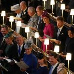Members of the royal family in St Georges Chapel Image PA